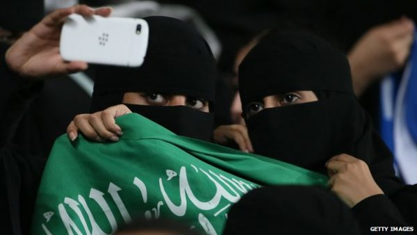 The female football fan causing outrage in Saudi Arabia