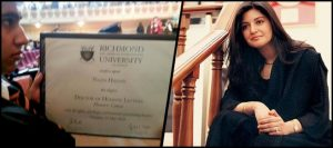 Late Nazia Hassan gets a PhD degree from Richmond University