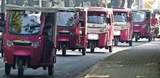 Pink Rickshaw rally