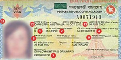 visa of bangaldesh