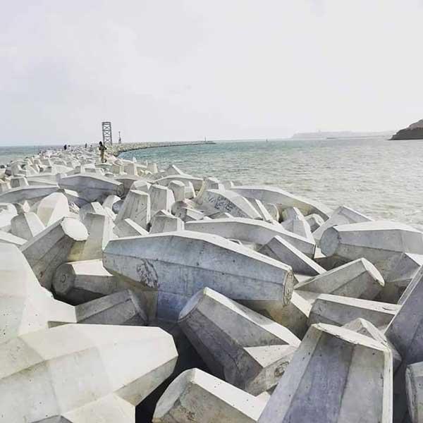 tetrapod rocks china port