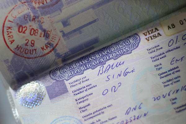 visa of republic of azerbaijan