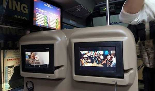 lcd on bus seat