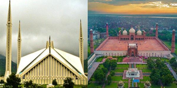 faisal masjid, badshahi masjid